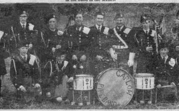 Carlow Pipe Band pictured in