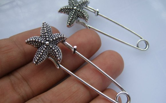 10pcs Metal Kilt Pin Large