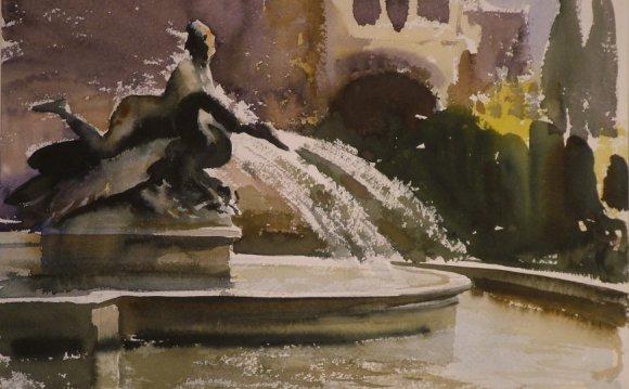Edward Seago A Fountain in