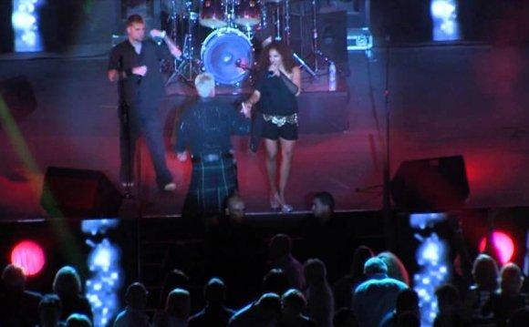 Scottish Man with Kilt Dancing