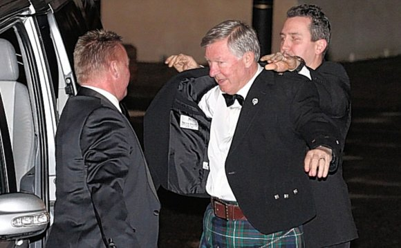 Sir Alex Ferguson wears kilt