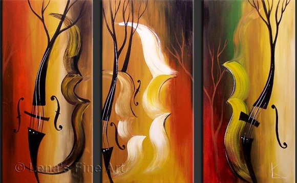 Abstract Paintings Of Musical