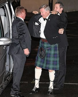 Big bash: Sir Alex Ferguson arrives for their special event