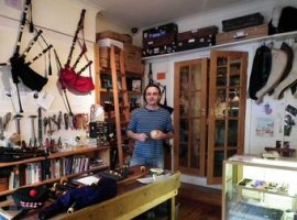 Inside Stirling Bagpipes store