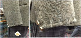 Tweed Jacket Sleeve prepared for being reduced