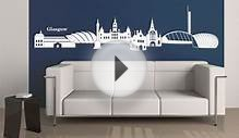 Glasgow Skyline Wall sticker - wall-art.com