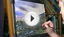 Quick Watercolour Impression of Scottish Highlands Part 1 of 2