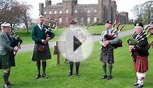 Scottish Bagpipe Music in Front Of Scone Palace Perth