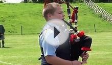 Young Scots Bagpiper Strathmore Highland Games Glamis