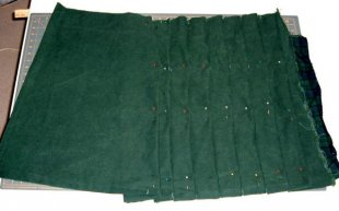 kilt textile, noted and pinned