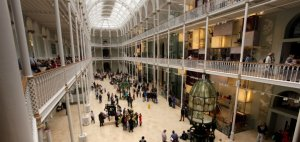 The Grand Gallery when you look at the National Museum of Scotland, Edinburgh