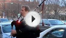 Bagpipe Music on Nassau St. Princeton, N. J.